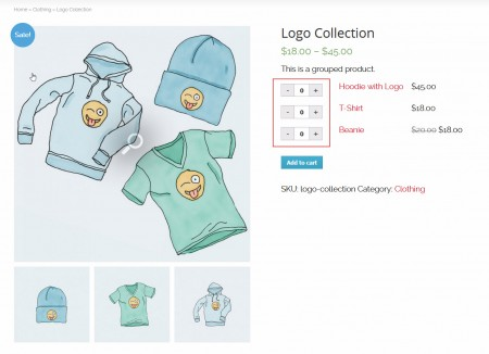 New Woocommerce Spinner Layout.
