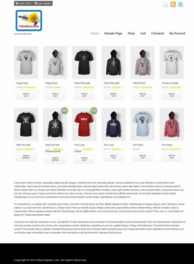 This is how it looks in a woocommerce website